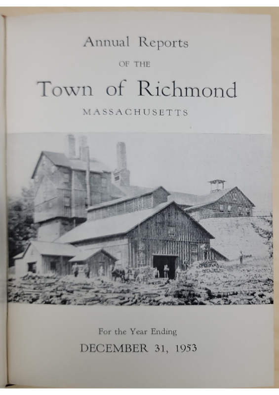 1953 Annual Report Proposing Protective Bylaw