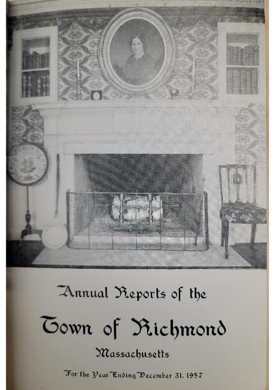 1957 Selectman Report
