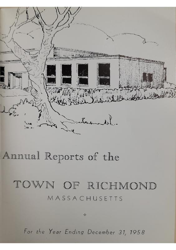 1958 Selectman Report