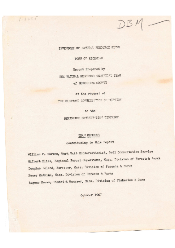 Natural Resources inventory Document