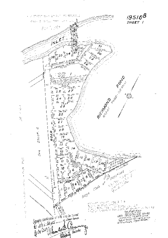 19516-B 1947 Subdivision of 19516A by Neff. Sheets 1 & 2