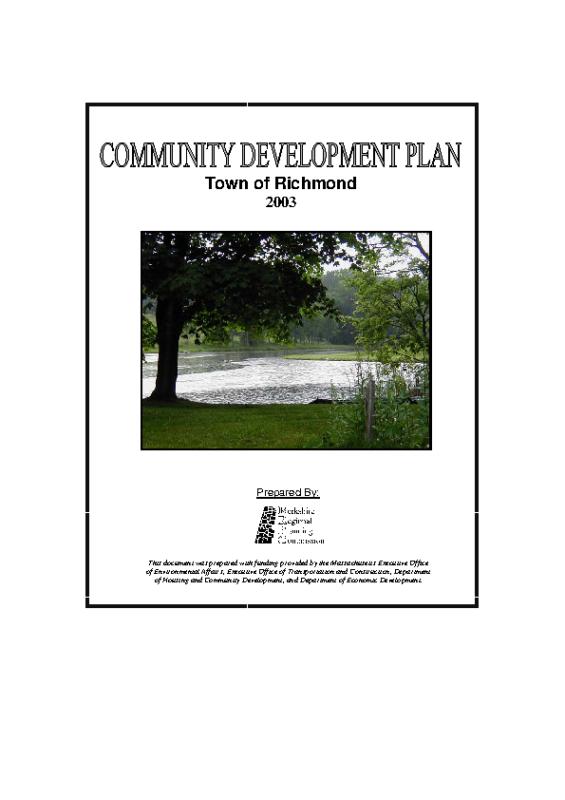 2003 Community Development Plan