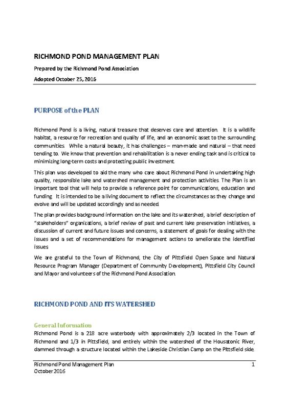 RPA 2016 Management Plan