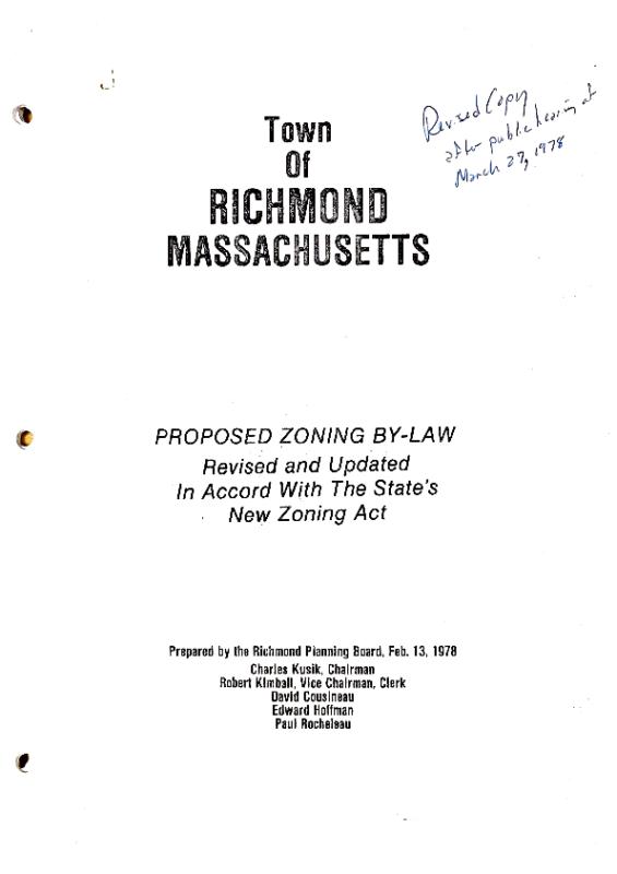 Richmond 1978 Zoning Bylaw