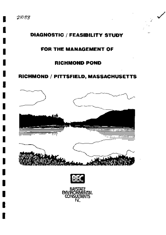 Richmond Pond Diagnostic Feasibility Study