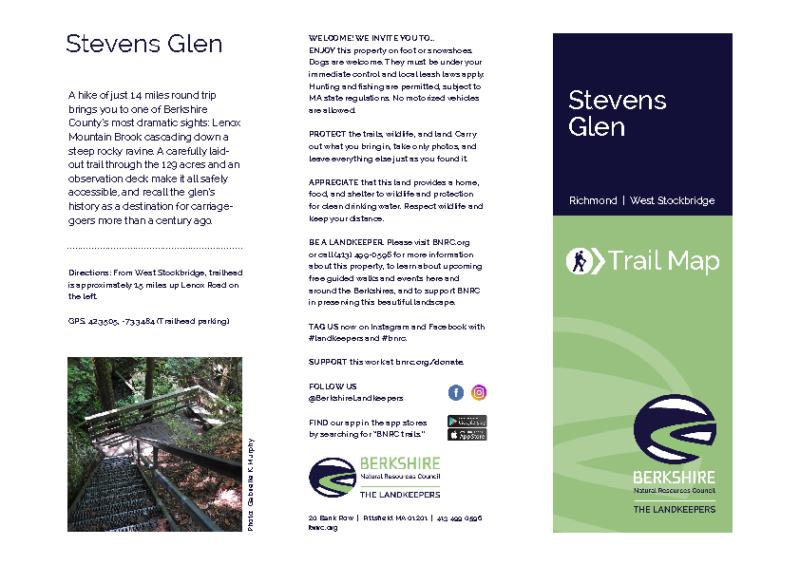 Stevens Glen Trail Map