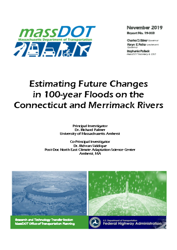 Estimating Future Changes in 100-year Floods massDOT