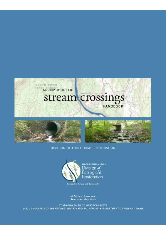 MA Streamcrossing Handbook – Stream Crossings booklet Web