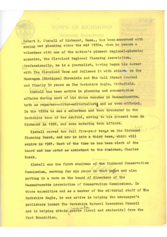 Planning Commission Bio 1975