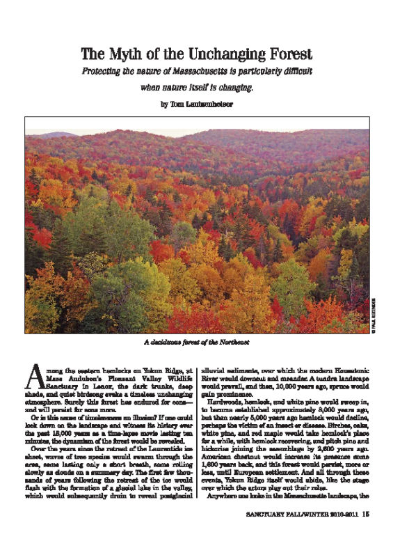 The Myth of the Unchanging Forest Tom Lautzenheiser